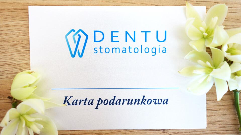 dentu stomatologia, karta podarunkowa, karta dentu stomatologia