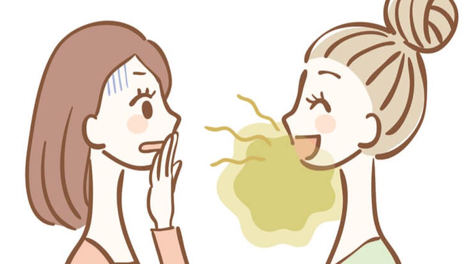 brzydki zapach z ust, nieprzyjemny zapach, nieświeży oddech, dentu